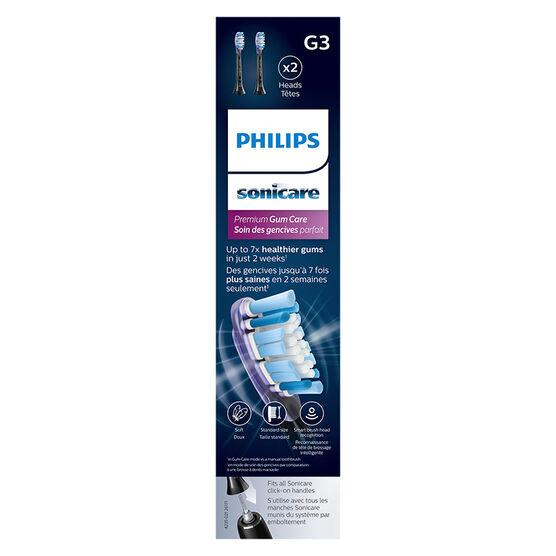 Philips Sonicare Premium Gum Care Sonic Toothbrush Heads - Black - HX9052/95