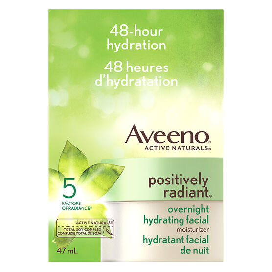 Aveeno Active Naturals Positively Radiant Overnight Hydrating Facial Mositurizer - 47ml