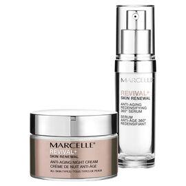 Marcelle Revival+ Skin Renewal Night Routine: Night Cream + Serum