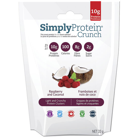 SimplyProtein Crunch - Raspberry and Coconut - 33g