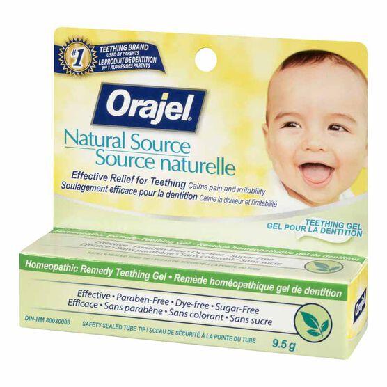 Orajel Homeopathic Teeth/Gel - 9.5g
