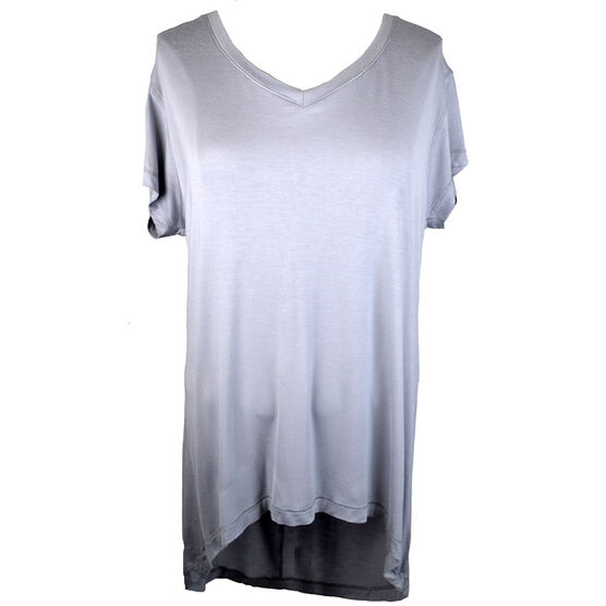 Lava Short Sleeve V-Neck high Low Tee