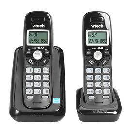 VTech 2-Handset Cordless Phone with Caller ID - Black - CS611421
