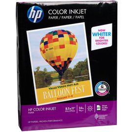 HP Colour Inkjet Paper - 24lbs - 92 Bright - 8.5 x 11 inch - 10 pack
