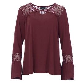 Lava Bell Sleeve Shirt - Mahogany - Assorted