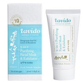Lavido 2-in-1 Purifying Facial Mask & Exfoliator - 50ml