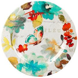 London Drugs Melamine Dinner Plate - Floral - 10.9in