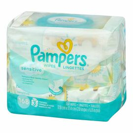 Pampers Wipes Sensitive - 168's