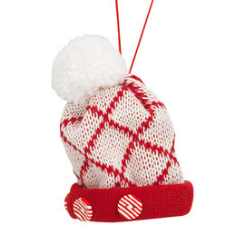 Peppermint Cocoa Hat Ornament - 3in