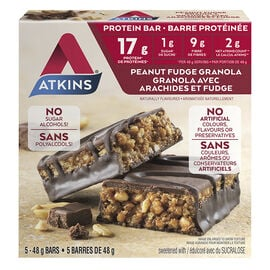 Atkins Protein Bar - Peanut Fudge Granola - 5 x 48g