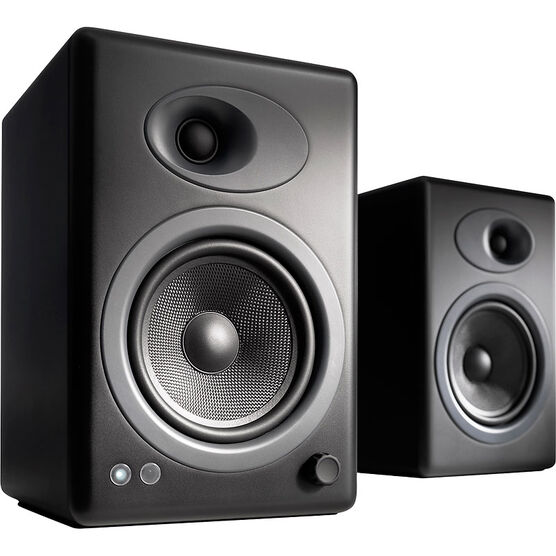 Audioengine A5+ Premium Powered Bookshelf Speakers - Black - A5+B-115V