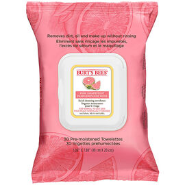 Burt's Bees Facial Cleansing Towelettes - Pink grapefruit - 30's