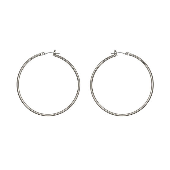 Nine West Large Basic Hoop Earrings