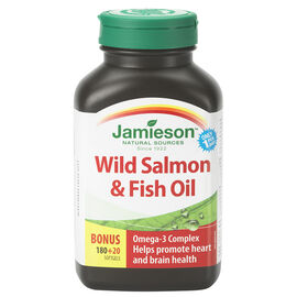 Jamieson Wild Salmon & Fish Oils Omega-3 Complex 1,000 mg - 180's