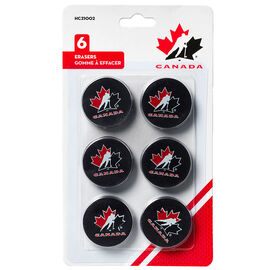 Hockey Canada Puck Erasers - 6 pack
