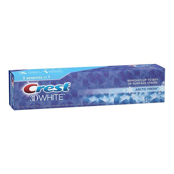 Crest 3D White Toothpaste - Arctic Fresh - 135ml