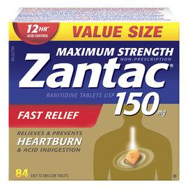 Zantac 150 Maximum Strength - 84's