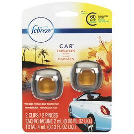 Febreze Auto Air Freshener - Hawaiian Aloha - 2 pack/4ml