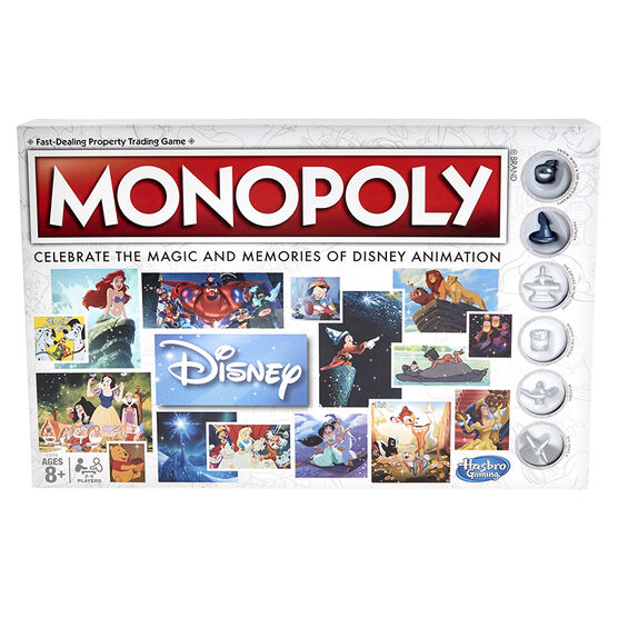 Disney Animation Monopoly 80th Anniversary Edition