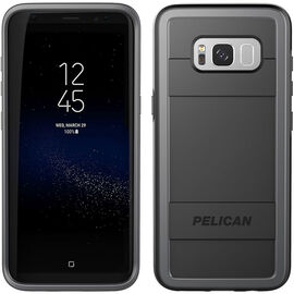 Pelican Protector Case for Samsung Galaxy S8+ - Black/Grey - PNPRO5876BKGR