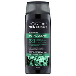 L'Oreal Men Expert Total Clean 3 in 1 Shampoo Conditioner Body Wash - Glycerin - 89ml