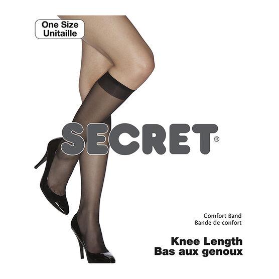 Secret Knee Length with Comfort Band - Black