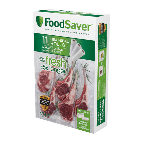 FoodSaver Sealer Bags - 11in x 16ft - 3 pack