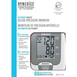 Homedics Automatic Wrist Blood Pressure Monitor - BPW-710-CA