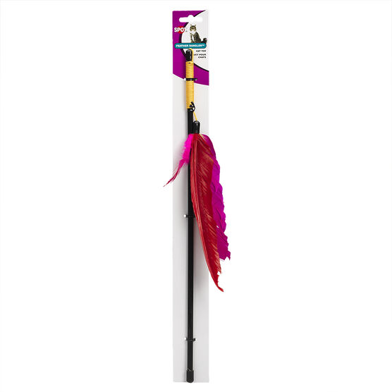 Feather Dangler on Wand - 18 inch