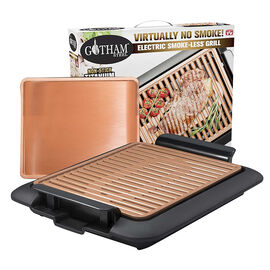 Gotham Steel Smokeless Grill/Griddle - Black/Copper