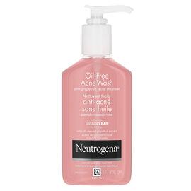 Neutrogena Oil-Free Acne Face Wash - Pink Grapefruit - 177ml