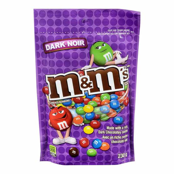 M&M's - Dark Chocolate Candies - 230g