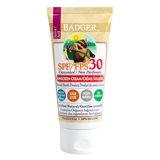 Badger Sunscreen Unscented SPF30 - 87ml