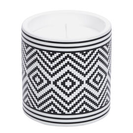 Patio Essentials Citronella Candle Terracotta Pot with Geometric Pattern - Assorted