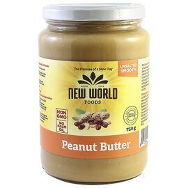 New World Peanut Butter - Smooth - Unsalted - 750g