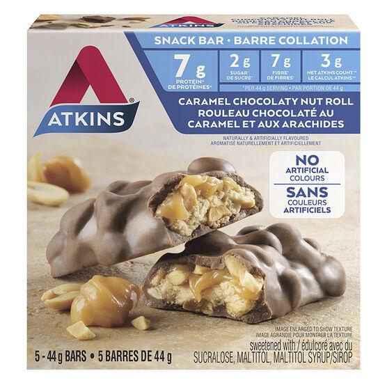 Atkins Snack Collection - Caramel Chocolaty Nut Roll - 5 x 44g