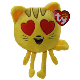 TY Beanie Baby - Emoji Movie - Cat Heart Eyes - 6in