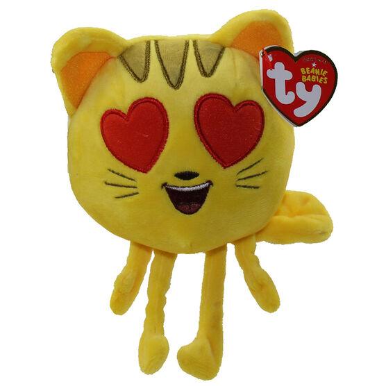 TY Beanie Baby - Emoji Movie - Cat Heart Eyes - 6in