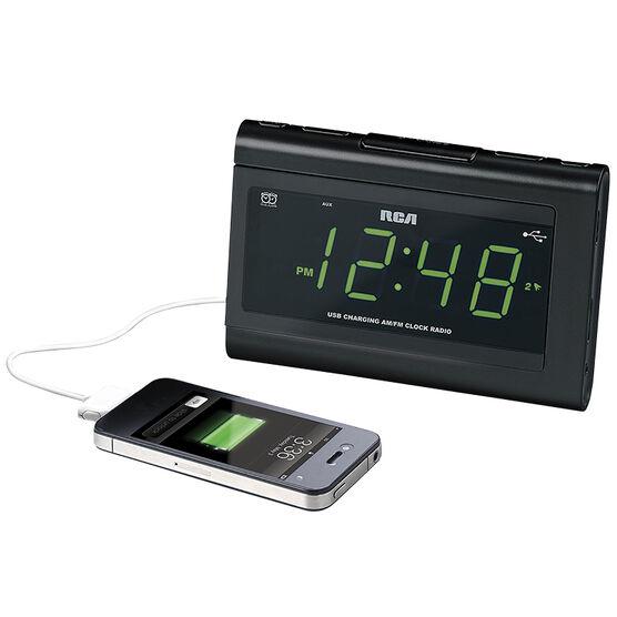 RCA FM USB Clock Radio - Black - RC142