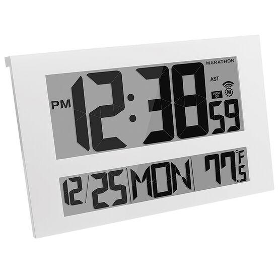 Marathon Jumbo Atomic Clock - White - CL030025WH