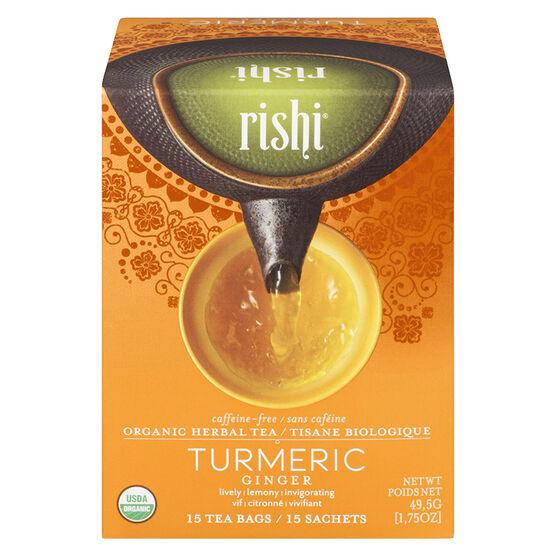 Rishi Caffeine-Free Tea - Turmeric Ginger - 15's