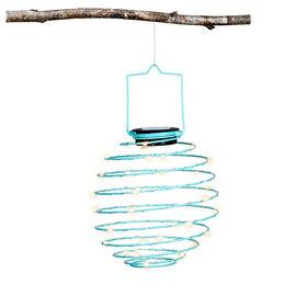 Fusion Solar Micro Dot LED Lantern - Light Blue - Spiral