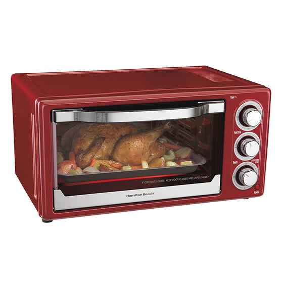 Hamilton Beach Convection Toaster Oven - Metallic Red