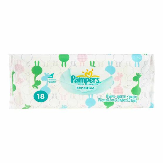 Pampers Wipes - Sensitive - 18's