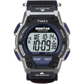 Timex Ironman Triathlon 30 Lap Watch - Silver/Dark Blue - 5K198