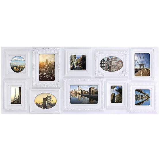 "KG Sophia 10 Opening Collage Frame - White - 13x31"""