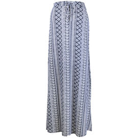 Lava Printed A-Line Skirt - Navy
