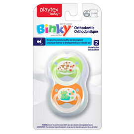 Playtex Ortho Binky - 0-6 months - 2 pack - Girls - Assorted