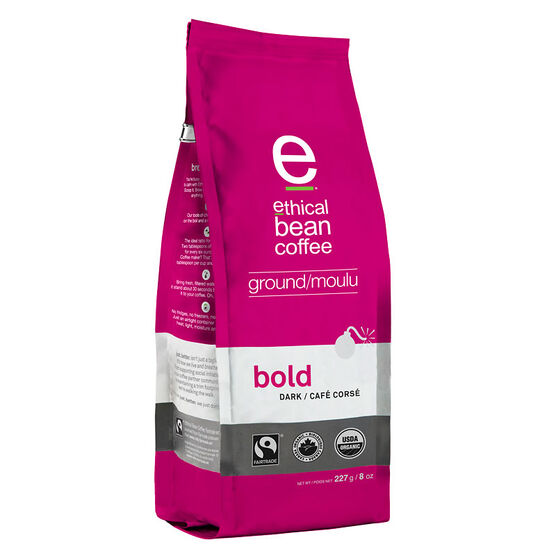 Ethical Bean Coffee - Bold Dark Roast Ground Coffee - 227g