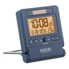 Marathon Atomic Travel Alarm Clock - Blue - CL030036BL